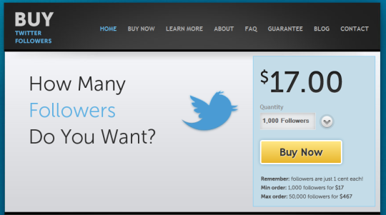 buying twitter follows